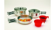 Two-Person Stainless Steel Cook Set (Case pack of 12)